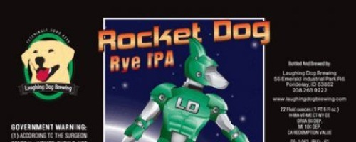 Laughing Dog Rocket Dog Rye IPA cover