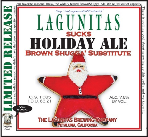 Lagunitas Sucks Holiday Ale cover