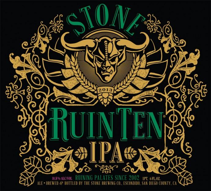Stone RuinTen IPA cover